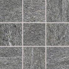 Quarzit - dlaždice rektifikovaná 10x10 šedá matná reliéfní