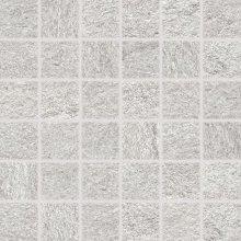 Quarzit - dlaždice mozaika 5x5 šedá matná reliéfní