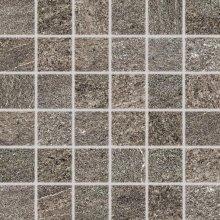 Quarzit - dlaždice mozaika 5x5 hnědá matná reliéfní