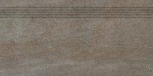 Quarzit - schodovka rektifikovaná 40x80 hnědá matná