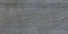 Quarzit - schodovka rektifikovaná 40x80 šedá matná