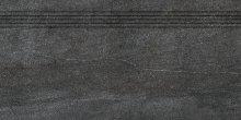 Quarzit - schodovka rektifikovaná 40x80 černá matná