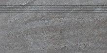 Quarzit - schodovka rektifikovaná 30x60 šedá matná