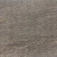 Quarzit Outdoor - dlaždice rektifikovaná 60x60, 2 cm hnědá matná reliéfní
