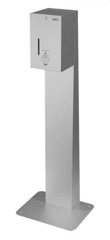 SLZN 59ES - Automatický nerezový dávkovač tekuté i gelové dezinfekce - včetně stojanu pro postavení ke stěně