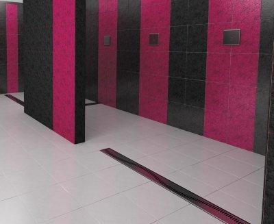 koupelnové podlahové žlábky do prostoru