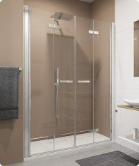 SLF2 - 2 dvoudílné skládací dveře v rovině 120 cm