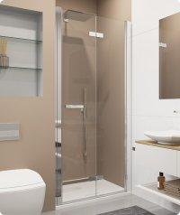 SLF1 - dvoudílné skládací dveře v rovině levé 70 cm