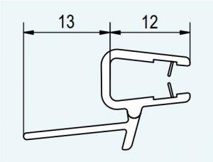 Vodorovné těsnění na 5 a 6 mm skla - starší typ
