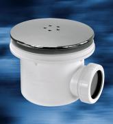 Sifon LUX 90 mm - víčko chrom