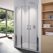 SL32 - dvoukřídlé dveře s pevnou stěnou v rovině 90 cm