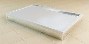 ILA - obdélníková sprchová vanička 75x90 s lineárním odtokovým žlabem, bílá
