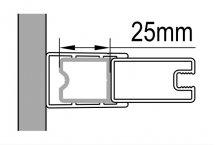Stohovací profil k rozšíření o 25 mm, 198 cm, černý matný, pro Annea, Solino