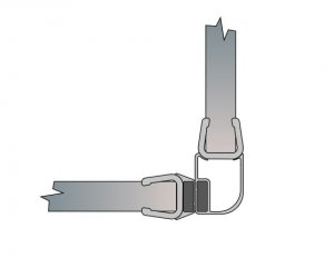 Nástěnný profil s magnetickým těsněním pro dveře s boční stěnou, černý matný, pro Solino