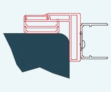 ATYP profil k postrannímu upevnění do zdi, aluchrom, pro PUR, Escura