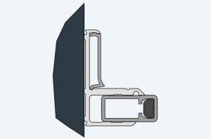 ATYP nástěnný profil s magnetickým těsněním, černá matná, pro Cadura