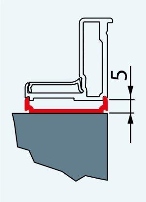 Rozšiřovací profil, 198 cm, bílý, pro Top-Line, Eco-Line