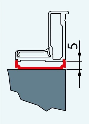 Rozšiřovací profil, 189 cm, aluchrom, pro Top-Line, Eco-Line