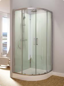 sprchové kabiny čtvrtkruhové