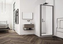 TLSP - jednokřídlé dveře 80 cm, černý matný profil