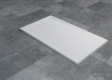 Livada - obdélníková sprchová vanička 90x80, bílá, odtok na kratší straně
