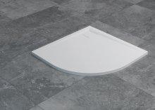 Livada - čtvrtkruhová sprchová vanička 80x80, bílá