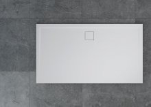 Livada - obdélníková sprchová vanička 120x80, bílá, odtok na delší straně