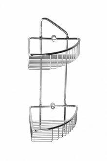 Cytro - polička do sprchy rohová dvojitá