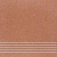 Quarzite 06 - schodovka 30x30 červená matná