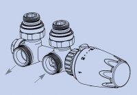 Korado připojovací armatura HM rohová chrom Z-D026
