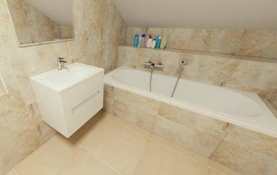 3D návrh koupelny dle velikosti