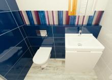 3D návrh - paneláková koupelna - Novabell Verve
