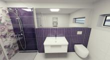 3D návrh - koupelna Colour Violet