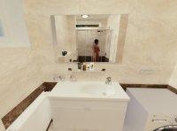 3D návrh - koupelna Eterna