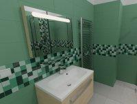 3D návrh - koupelna Smeraldo
