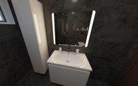 3D návrh - koupelna Opoczno Quenos