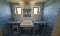 3D návrh - koupelna Materia