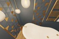 3D návrh - koupelna Tubadzin Reflection