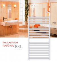 BKL.ES 60x76 elektrický radiátor bez regulace, do zásuvky, bílá