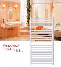 BKL.ERK 60x76 elektrický radiátor s horizontálním regulátorem, bílá