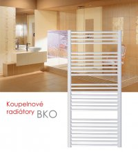 BKO.ERK 75x132 elektrický radiátor s horizontálním regulátorem, bílá