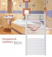 BKM.ERK 45x123 elektrický radiátor s horizontálním regulátorem, bílá
