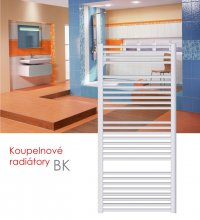 BK.E 75x132 elektrický radiátor bez regulace, bílá