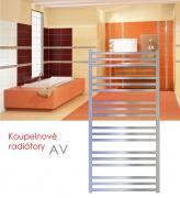 AV.ER 121x48 elektrický radiátor s regulací teploty a spínačem, metalická stříbrná