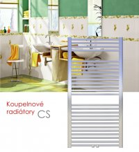 CS.ER 75x169 elektrický radiátor s regulací teploty a spínačem, chrom