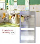 CS.EI 75x121 elektrický radiátor s elektronickým regulátorem prostorové teploty, chrom