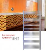 BNIT.EI 75x79 elektrický radiátor s elektronickým regulátorem prostorové teploty, kartáčovaný nerez