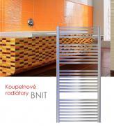 BNIT.EI 75x79 elektrický radiátor s elektronickým regulátorem prostorové teploty, lesklý nerez