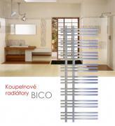 BICO.EI 50x130 elektrický radiátor s elektronickým regulátorem prostorové teploty, chrom