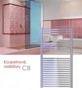 CB.ERK 45x129 elektrický radiátor s horizontálním regulátorem, chrom